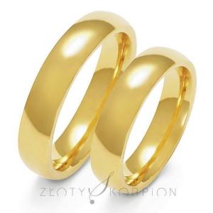 Obrączki ślubne klasyczne półokrągłe 5mm szerokości z pr.585