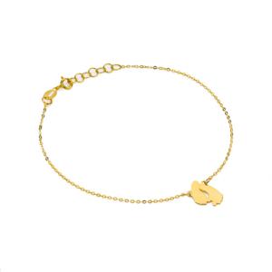 Złota bransoletka celebrytka stópki pr.585