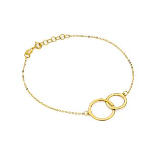 Złota bransoletka celebrytka złączone koła pr.585
