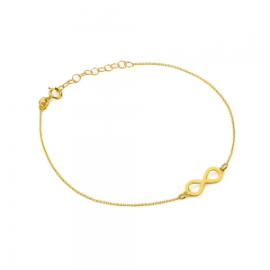 Złota bransoletka celebrytka nieskończoność pr.333