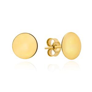 Złote kolczyki sztyfty pr.585