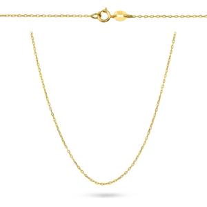Złoty pełny łańcuszek ankier 40cm pr.585