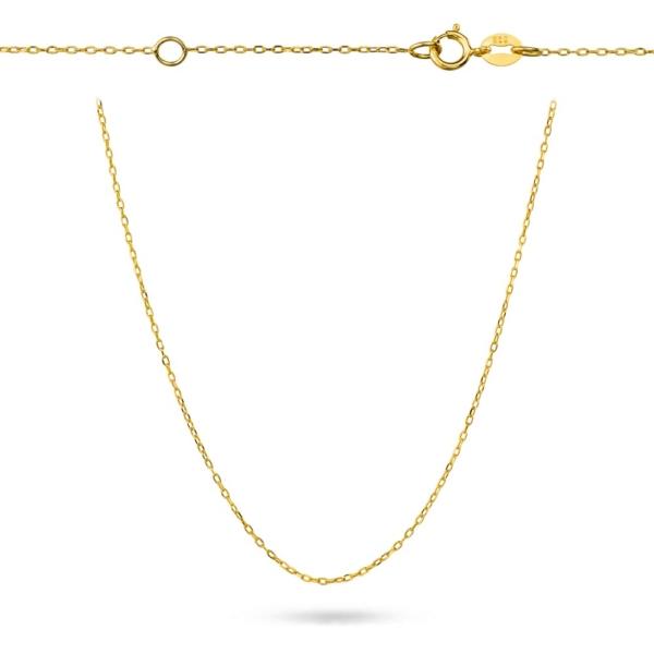 Złoty pełny łańcuszek ankier pr.585