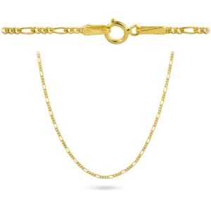 Złoty łańcuszek figaro 45cm pr.585