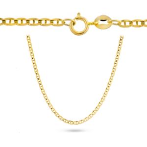 Złoty łańcuszek Gucci 55cm pr.585