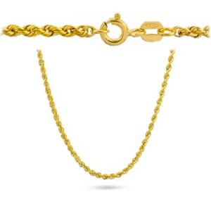 Złoty łańcuszek kordel 42cm pr.585