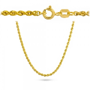 Złoty łańcuszek kordel 50cm pr.585