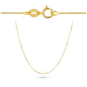 Złoty łańcuszek kostka 45cm pr.585