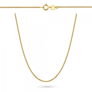 Złoty łańcuszek lisi ogon 38cm pr.333