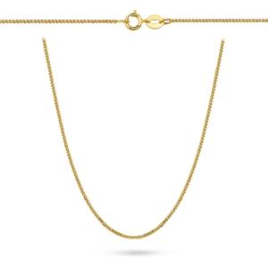Złoty łańcuszek lisi ogon 40cm pr.333