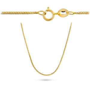Złoty łańcuszek lisi ogon 38cm pr.585