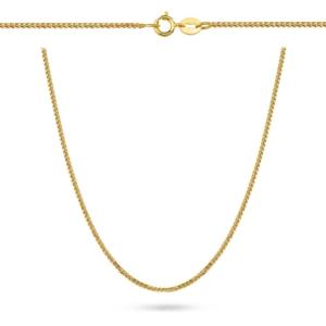 Złoty łańcuszek lisi ogon 42cm pr.333
