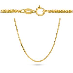 Złoty łańcuszek lisi ogon 45cm pr.585