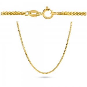 Złoty łańcuszek lisi ogon 50cm pr.585