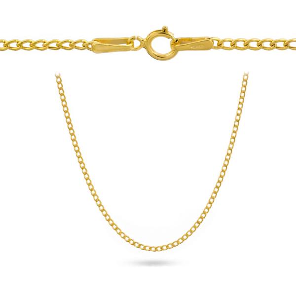 Złoty łańcuszek dmuchana pancerka 50cm pr.585