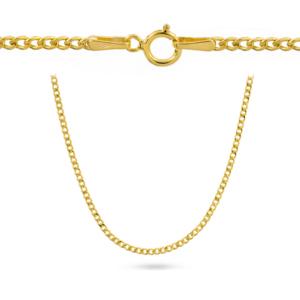 Złoty łańcuszek dmuchana pancerka 45cm pr.585