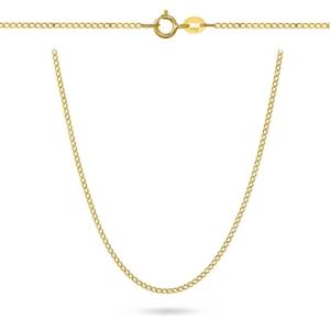 Złoty pełny łańcuszek Pancerka 45cm pr.333