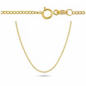 Złoty pełny łańcuszek pancerka 45cm pr.585