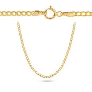 Złoty pełny łańcuszek wybierana pancerka 50cm pr.585