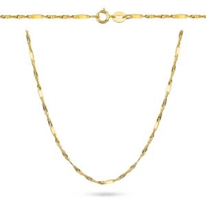 Złoty pełny łańcuszek singapur z blaszkami 42cm pr.333