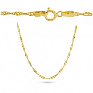 Złoty łańcuszek singapur dmuchany 45cm pr.585