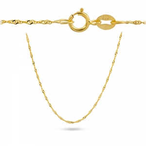 Złoty pełny łańcuszek singapur 42cm pr.585