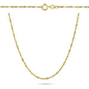 Złoty pełny łańcuszek singapur 40cm pr.333
