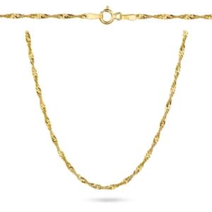 Złoty pełny łańcuszek singapur 42cm pr.333