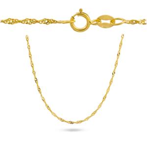 Złoty pełny łańcuszek singapur 50cm pr.585