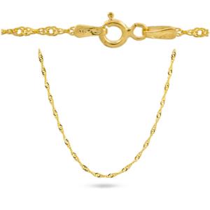 Złoty pełny łańcuszek singapur 45cm pr.585