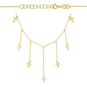 Złoty naszyjnik z krzyżykami pr.585