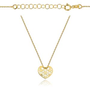 Złoty naszyjnik celebrytka z ażurowym sercem pr.333