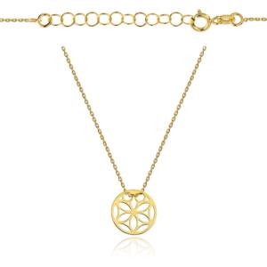 Złoty naszyjnik celebrytka ażurowe kółko pr.333