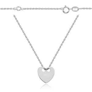 Srebrny naszyjnik celebrytka serce