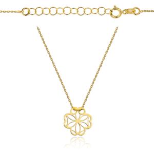 Złoty naszyjnik celebrytka ażurowa koniczynka pr.333