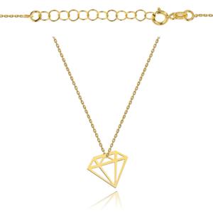 Złoty naszyjnik celebrytka ażurowy diament pr.333