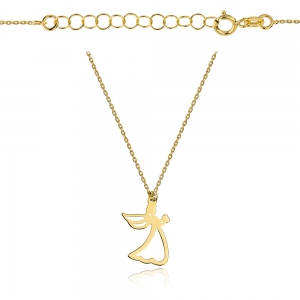 Złoty naszyjnik celebrytka aniołek pr.333