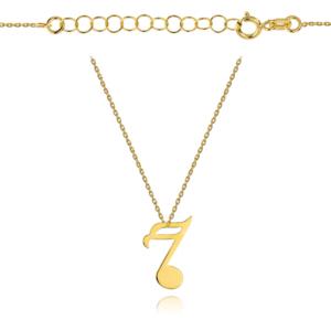 Złoty naszyjnik celebrytka nutka pr.333