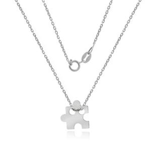 Srebrny naszyjnik celebrytka z małym puzzlem pr.925