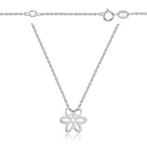 Srebrny naszyjnik celebrytka kwiatek