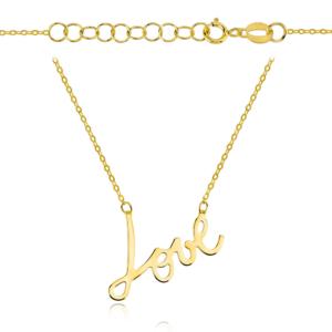 Złoty naszyjnik celebrytka Love pr.585