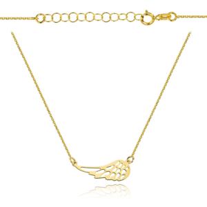 Złoty naszyjnik celebrytka skrzydełko pr.333