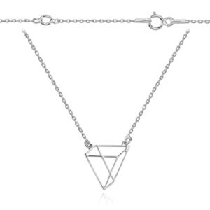 Srebrny naszyjnik origami trójkąt