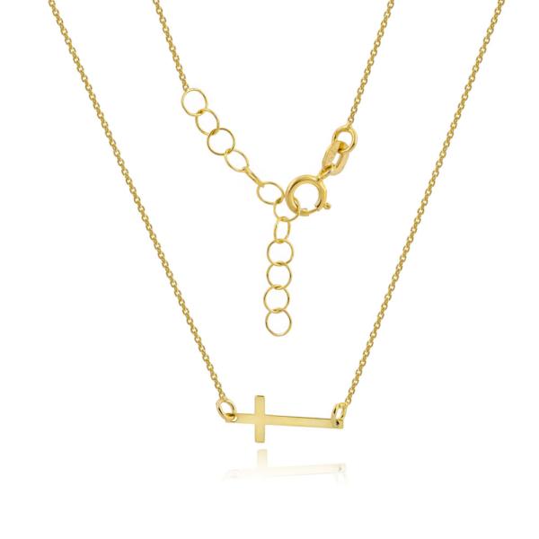 Złoty naszyjnik celebrytka z krzyżykiem pr.333