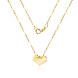 Złoty naszyjnik celebrytka z sercem pr.333
