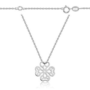 Srebrny naszyjnik ażurowa koniczynka pr.925