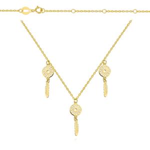 Złoty naszyjnik choker z łapaczami snów pr.585