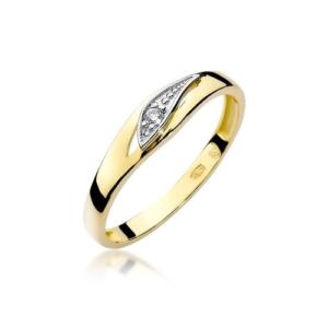 Pierścionek zaręczynowy z żółtego złota pr.585 z brylantem 0,03ct