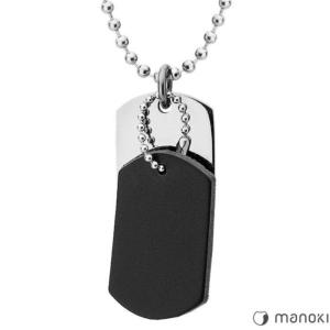 Naszyjnik męski Manoki WA328B nieśmiertelnik
