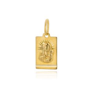 Złoty medalik Matka Boska Częstochowska pr.585